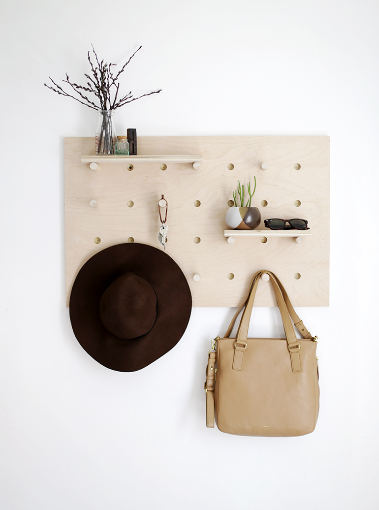 DIY perchero de madera