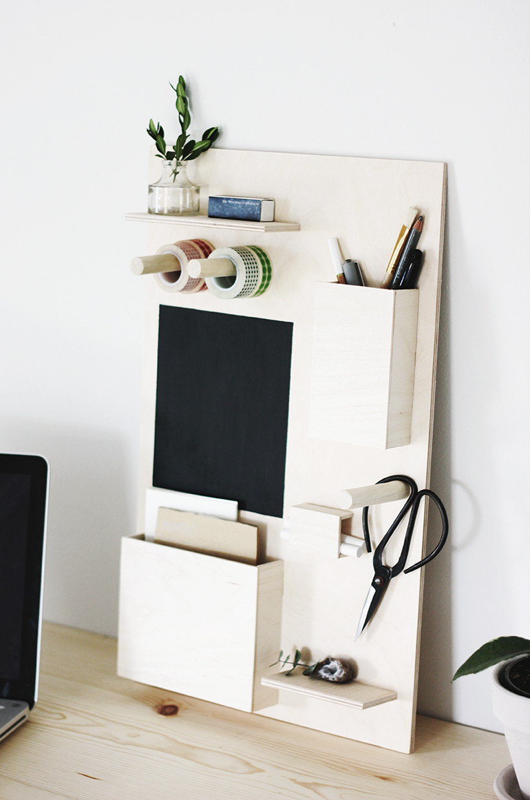 diy desk organizer the merrythought. Black Bedroom Furniture Sets. Home Design Ideas