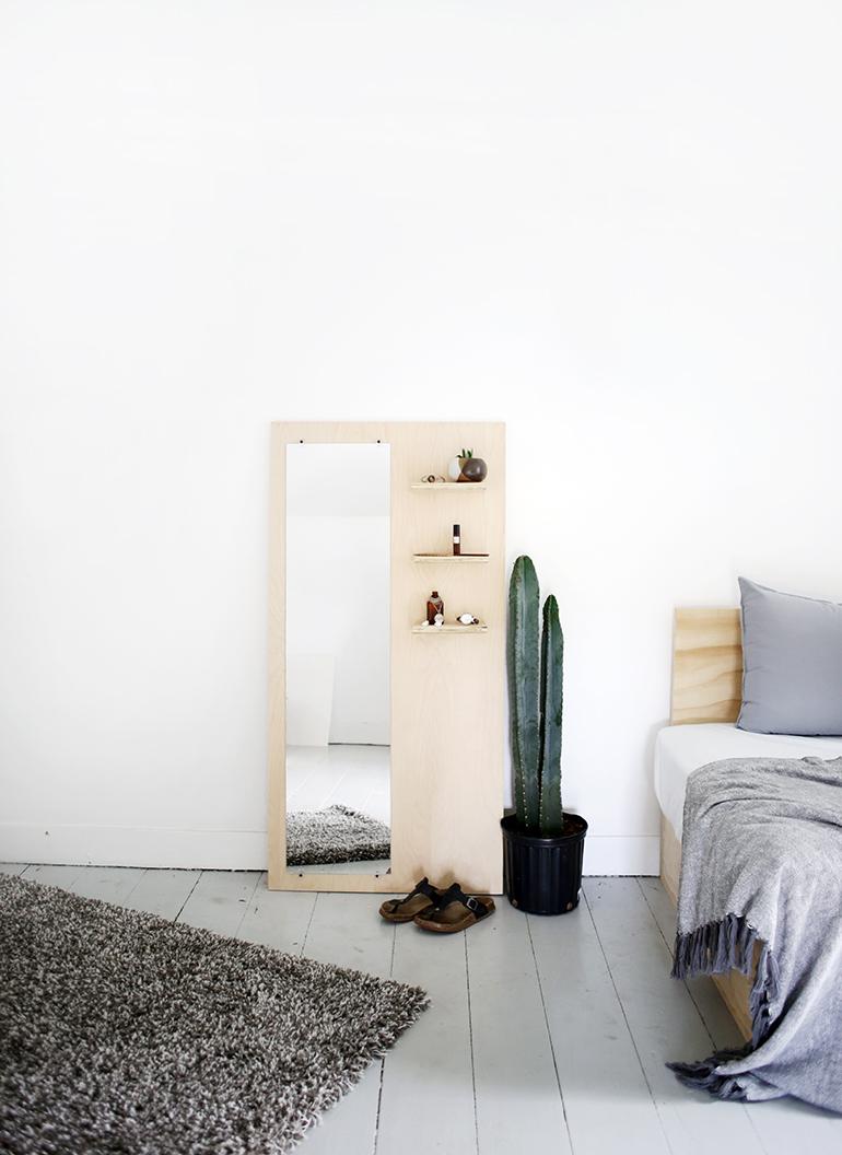 DIY Plywood Floor Mirror  The Merrythought