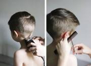 modern boy's haircut