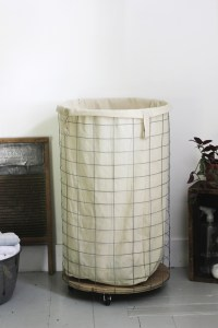 DIY Wire Laundry Hamper - The Merrythought