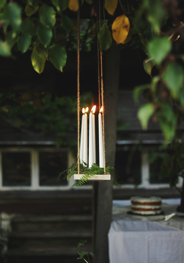 DIY Hanging Candle Chandelier  The Merrythought