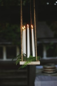 DIY Hanging Candle Chandelier - The Merrythought