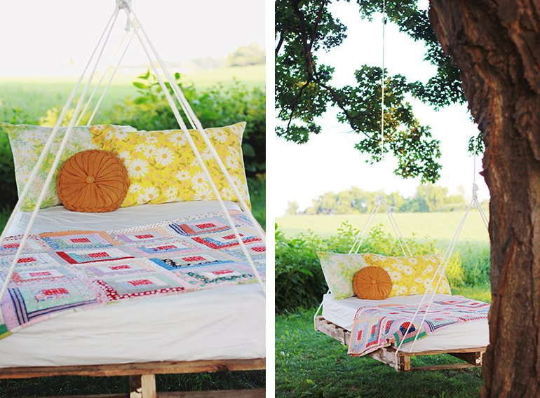 Pallet Swing Bed | The Merrythought