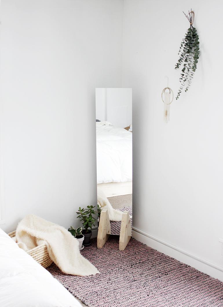 DIY Minimal Floor Mirror  The Merrythought