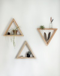 DIY Wooden Triangle Shelves - The Merrythought