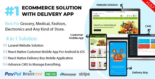 React Native Delivery Solution with Advance Website and CMS - 59