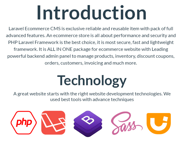 Laravel Ecommerce - Universal Ecommerce/Store Full Website with Themes and Advanced CMS/Admin Panel - 5