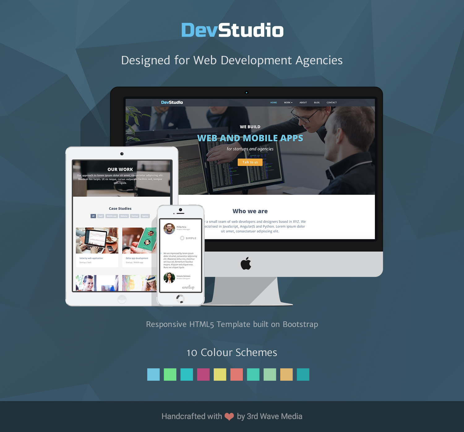 Bootstrap 4 Template For Web Development Agenceis Amp Developers