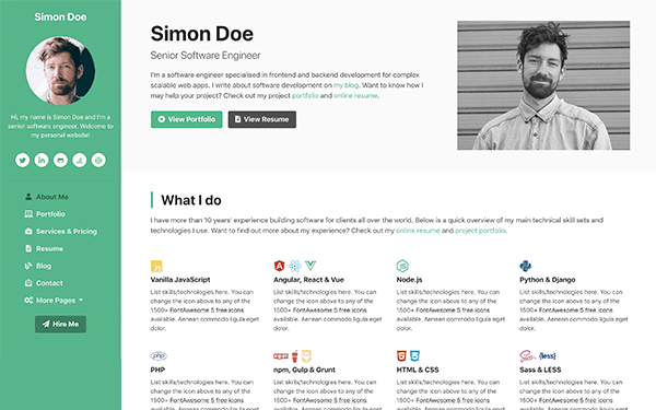 """In the accompanying video tutorial, you'll also learn the """"why"""" behind the design decisions that went into the ux portfolio template. Ux Centred Bootstrap Templates Themes For Developers Ux Bootstrap"""