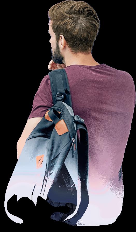 yoga2 home backpack guy