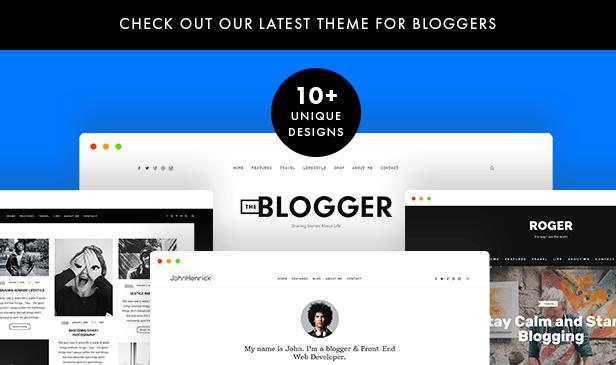theblogger wordpress theme