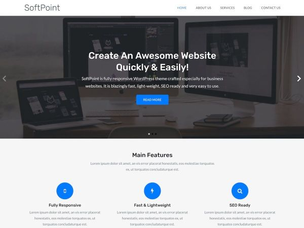 SoftPoint Free WordPress Theme