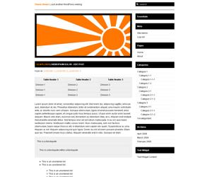 10PAD2-Rising Sun free wordpress theme