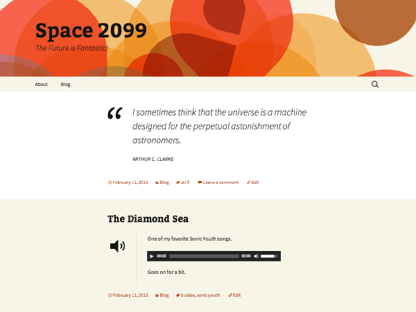 2013 Orange Sequence free wordpress theme