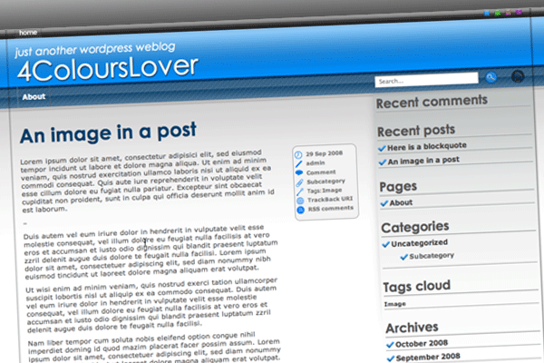 4ColoursLover free wordpress theme