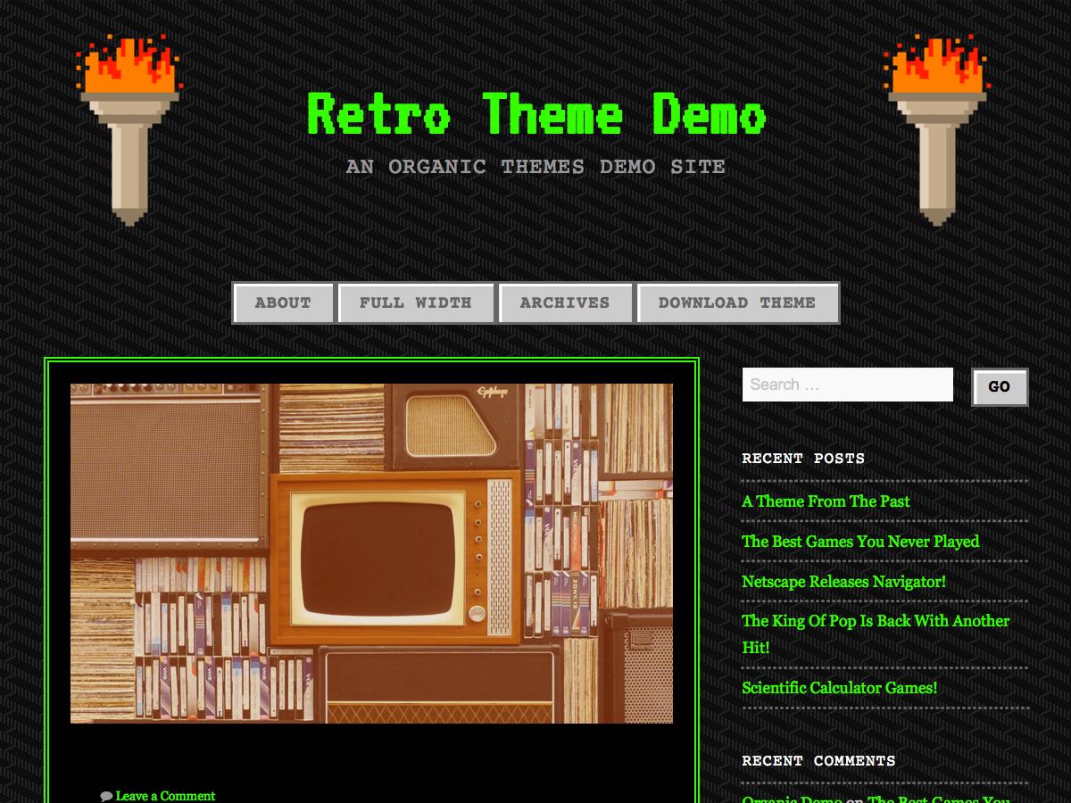 90s Retro free wordpress theme
