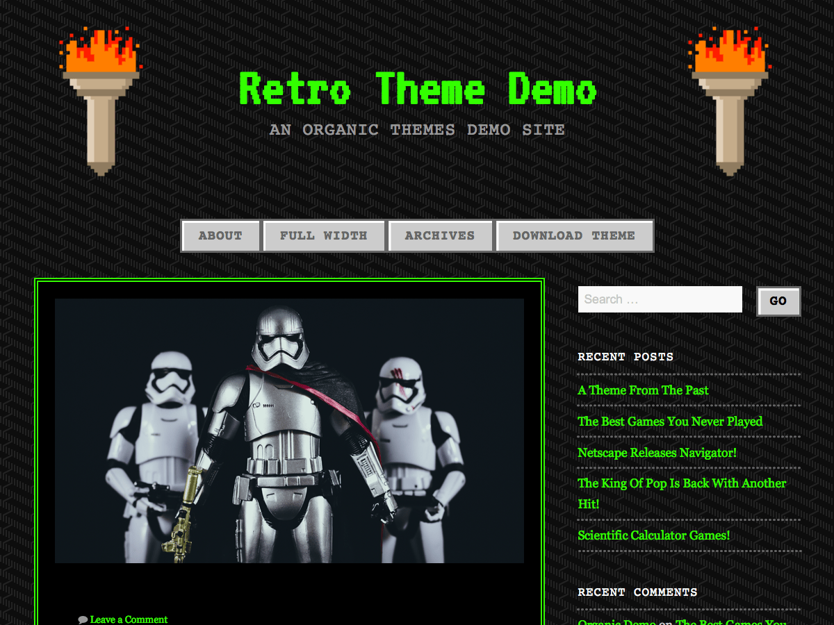 90s Retro — Free WordPress Themes
