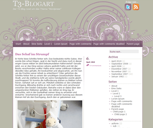 A little touch of purple wordpress theme