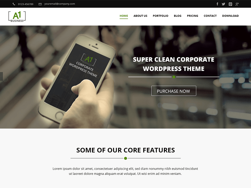 A1 wordpress theme