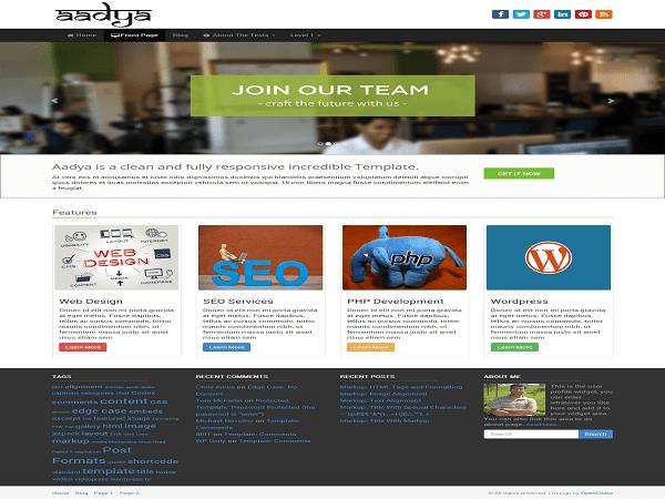Aadya theme wordpress gratuit