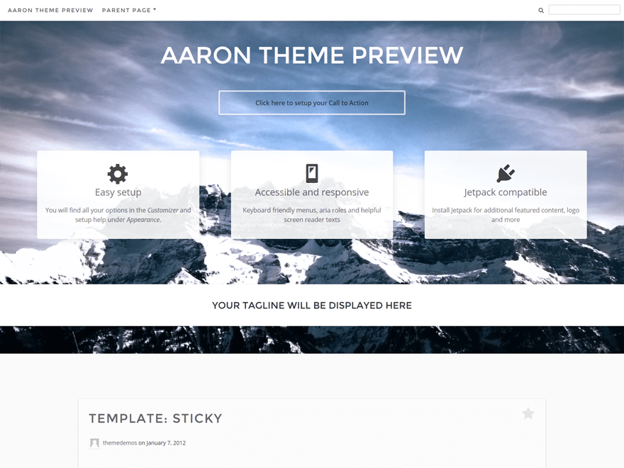 Aaron free wordpress theme