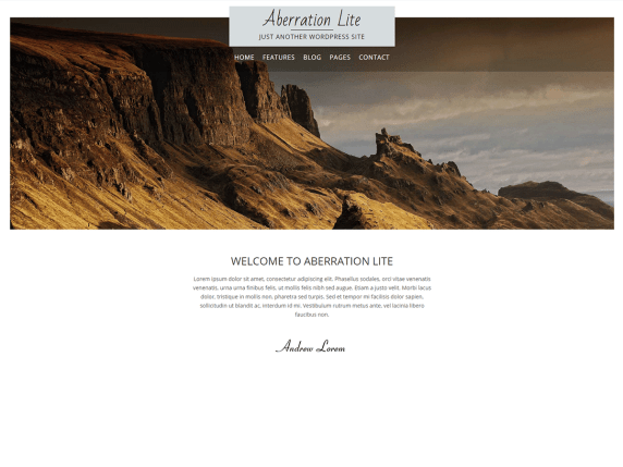 Aberration Lite wordpress theme
