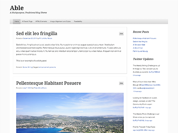 Able free wordpress theme