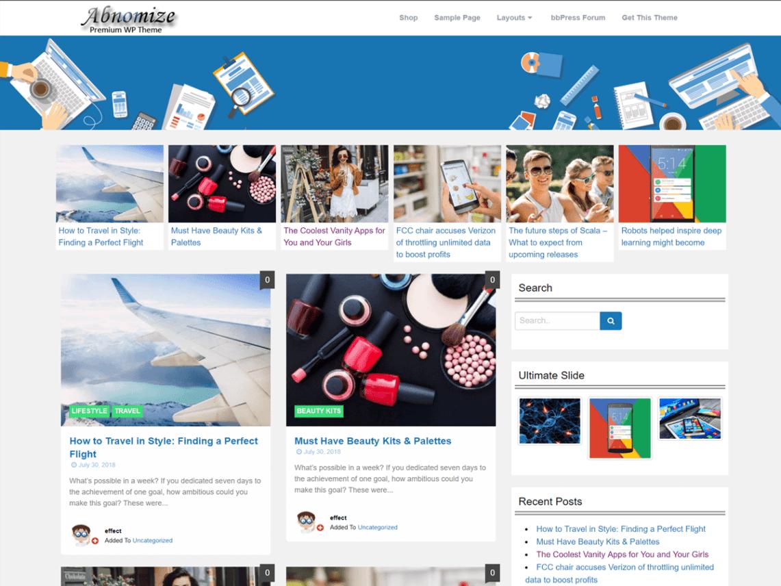 Abnomize - WordPress theme | WordPress org