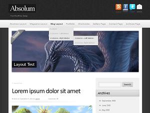 Absolum wordpress theme