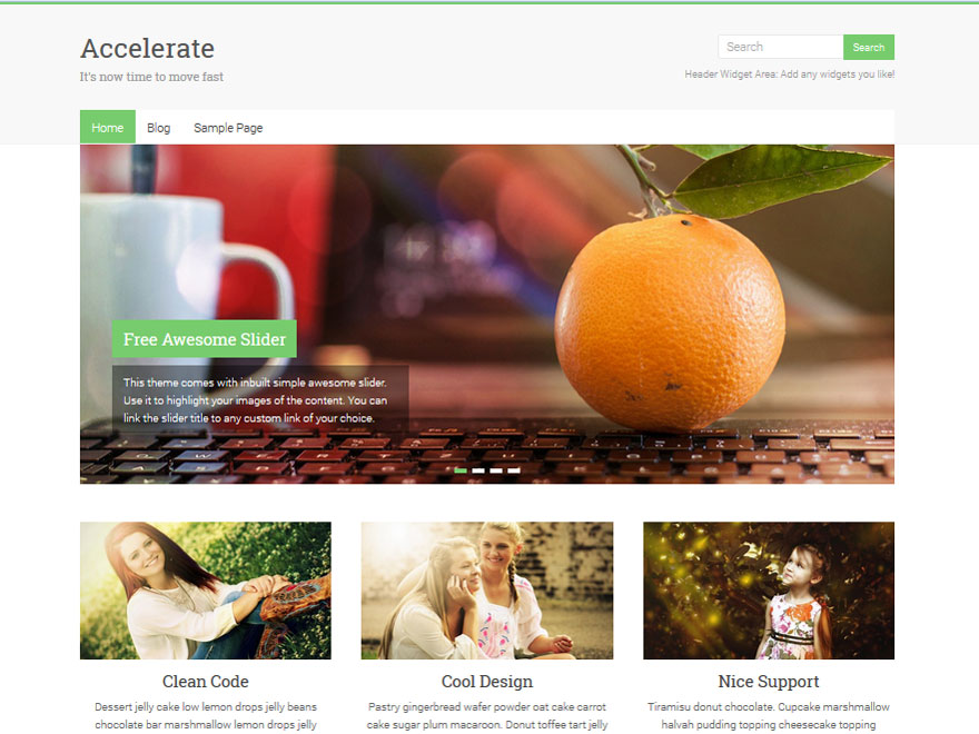 WordPress тема: Accelerate