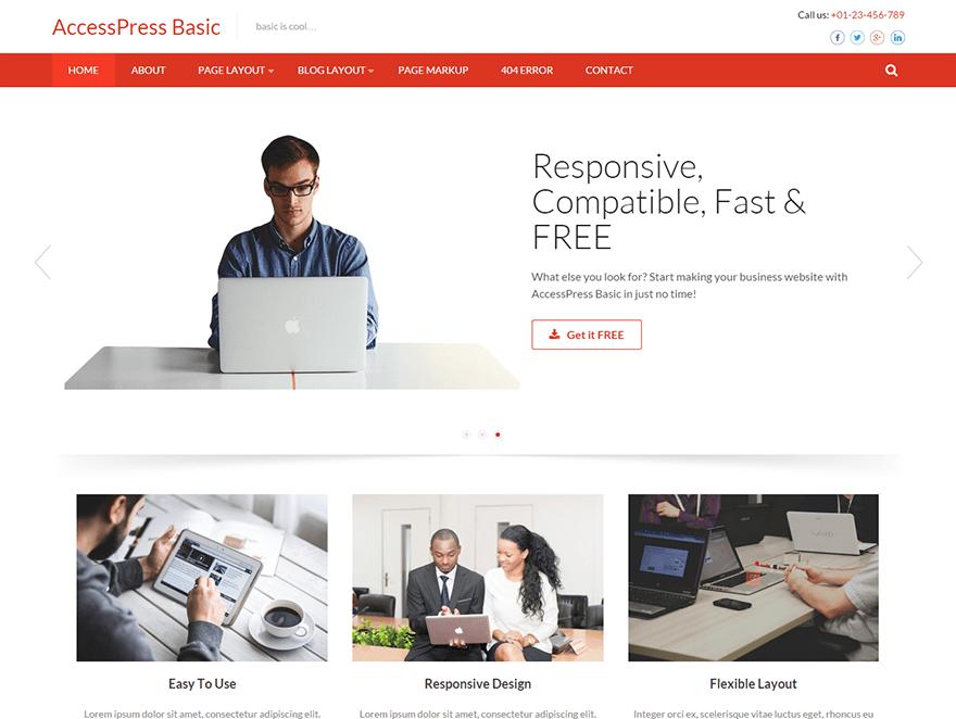 Accesspress Basic free wordpress theme