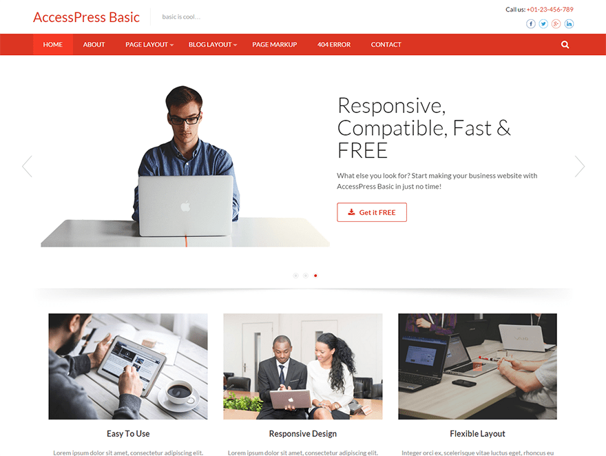 Accesspress Basic wordpress theme