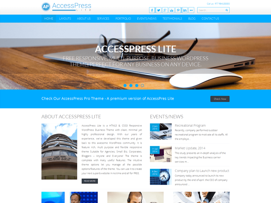 Accesspress Lite free wordpress theme