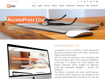 AccessPress Lite child theme