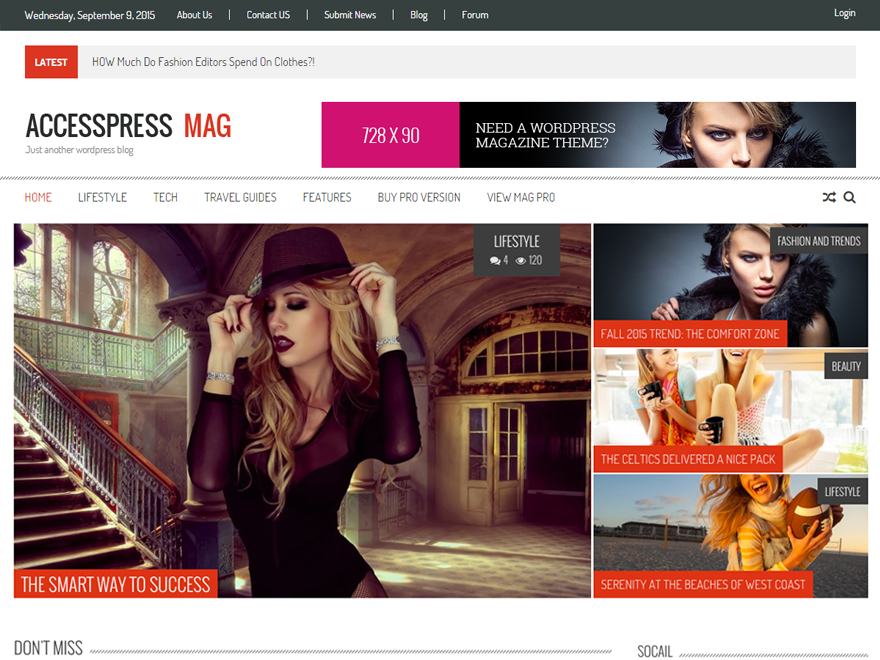 Accesspress Mag free wordpress theme