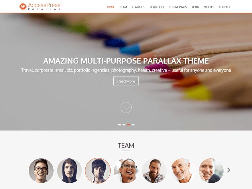 ACCESSPRESS-PARALLAX Business, Portfolio, Biographie, Blog