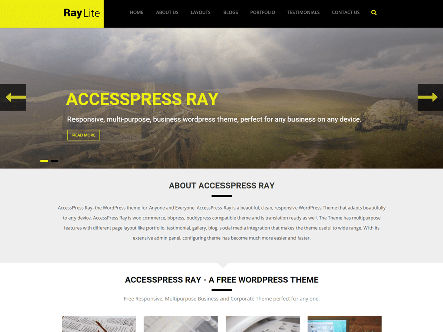 Accesspress Ray wordpress theme