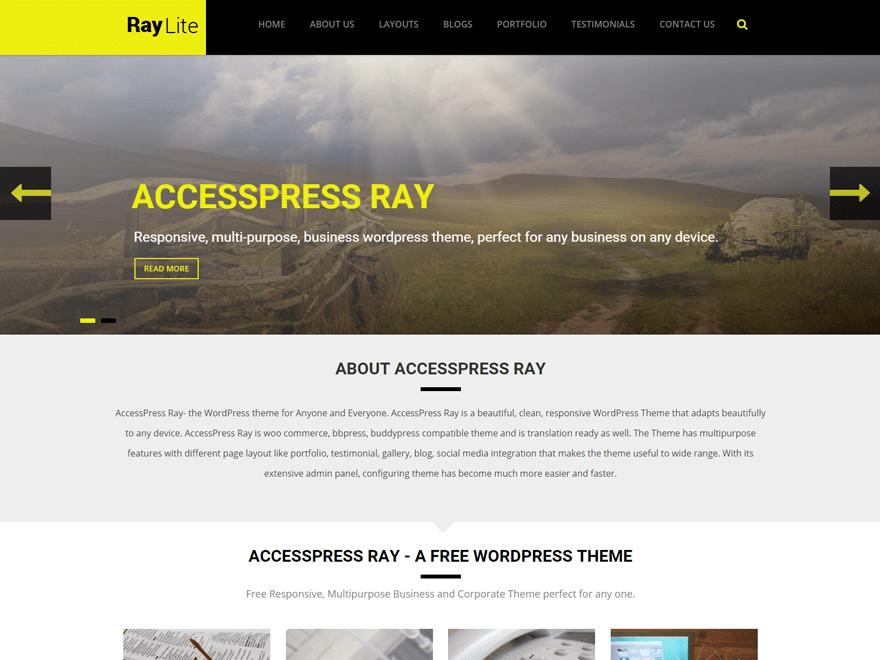 AccessPress Ray child theme