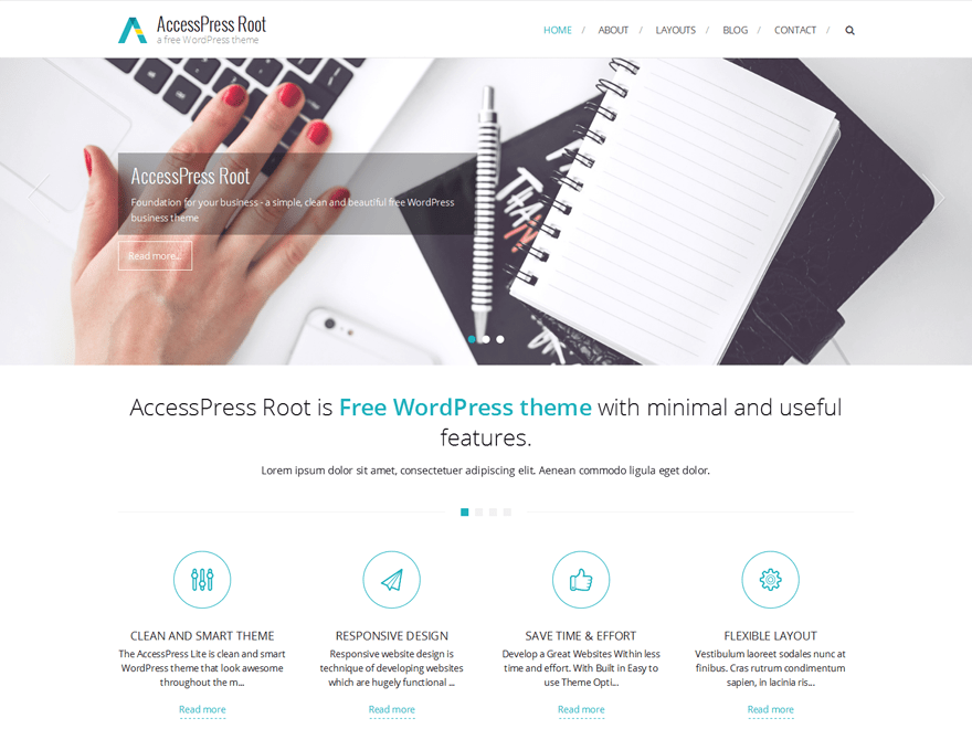 AccessPress Root free wordpress theme