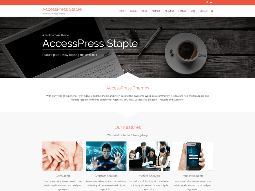 AccessPress Staple