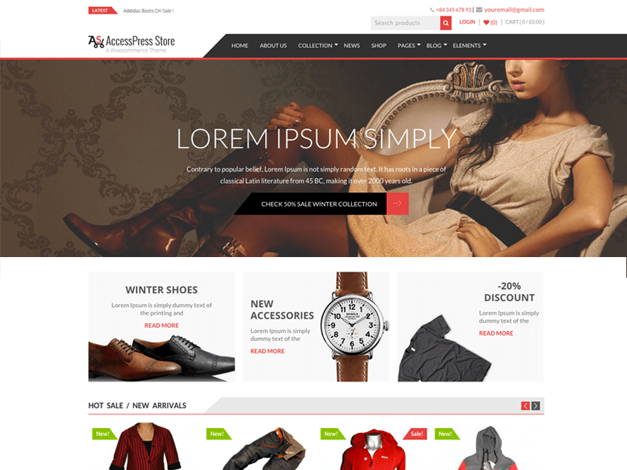 screenshot of AccessPress Store free WooCommerce theme