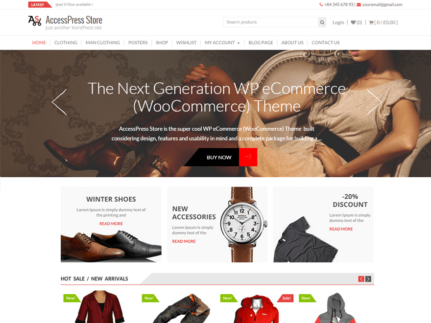 Accesspress Store wordpress theme