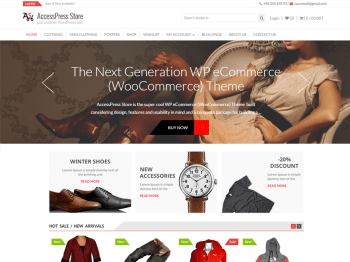 AccessPress Store child theme
