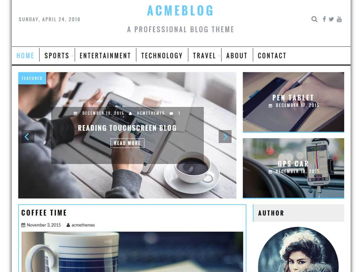 Acmeblog wordpress theme
