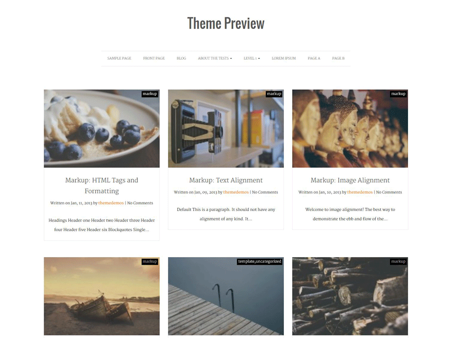 Actuate free wordpress theme