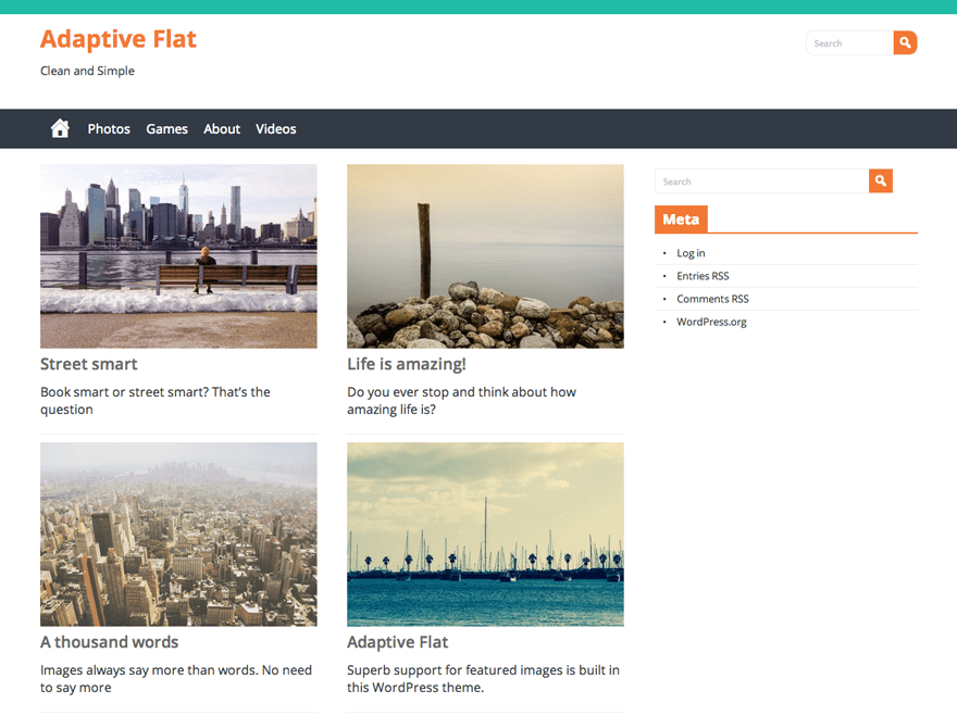 Adaptive Flat free wordpress theme