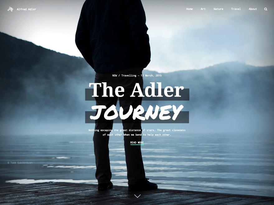 Adler theme wordpress gratuit