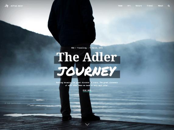 Adler wordpress theme