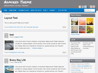 Admired wordpress theme
